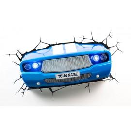 3D LAMPADA LED - Auto BLU